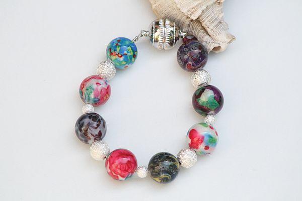 bunte Korallen  (Schmuck: Exclusive-Armbänder)