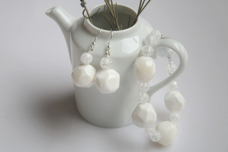 white Flakes  (Schmuck: aktuelle Kollektion)
