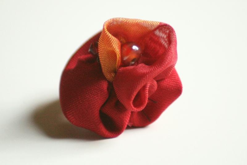 Herbstrose  (Schmuck: Kreativ-Ringe)
